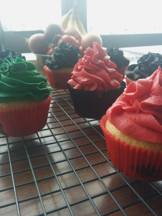 harley quinn cupcakes